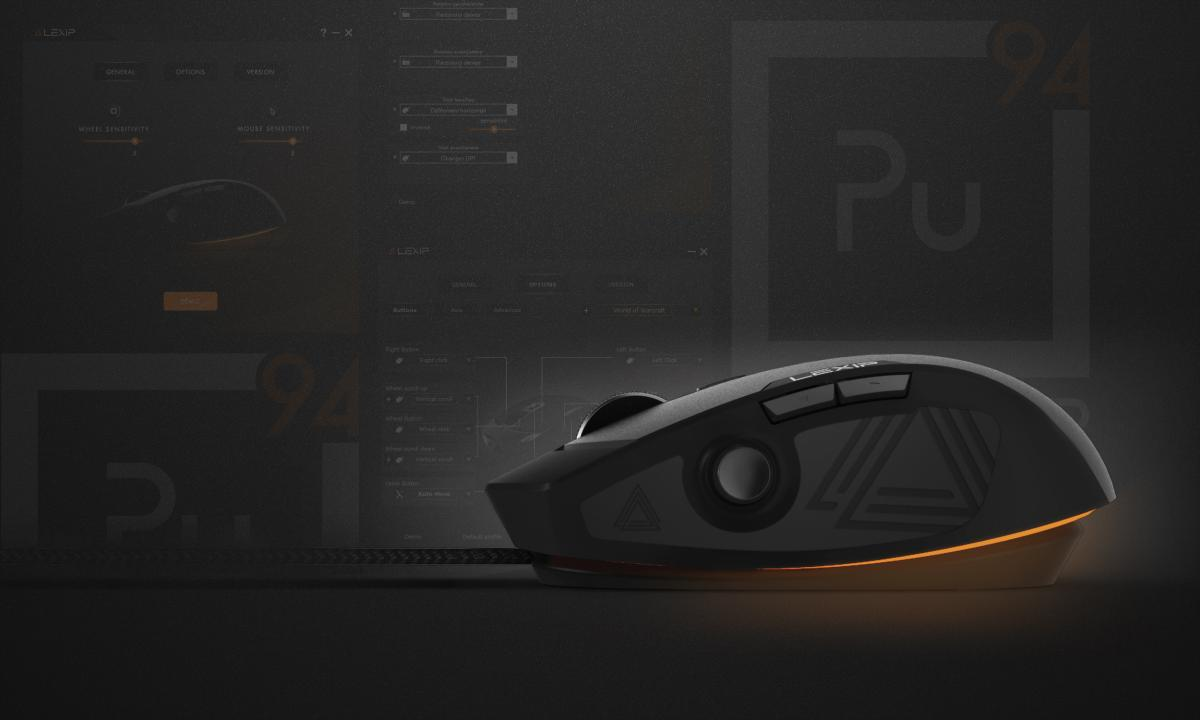 Pu94 gaming mouse control panel by Lexip